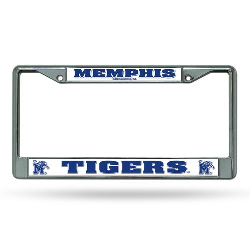 Rico University of Memphis Chrome License Plate Frame