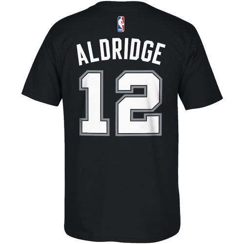 adidas Men's San Antonio Spurs LaMarcus Aldridge No. 12 7 Series T-shirt