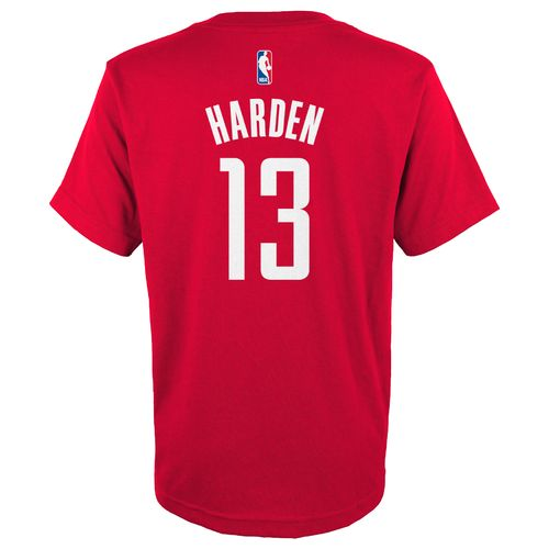 adidas™ Boys' Houston Rockets James Harden #13 Flat Player T-shirt