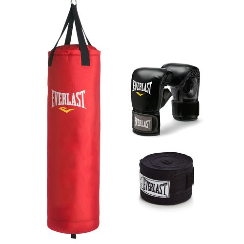 Everlast® 70 lb. Polycanvas Heavy Bag Kit