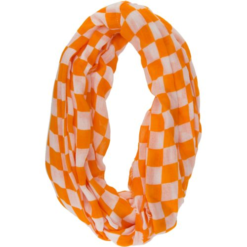 ZooZatz Women's University of Tennessee Checkerboard Infinity Scarf
