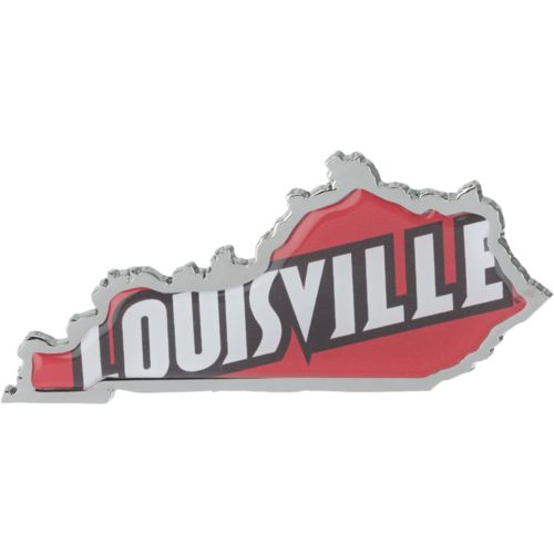 Stockdale University of Louisville Chrome State Shape Auto Emblem