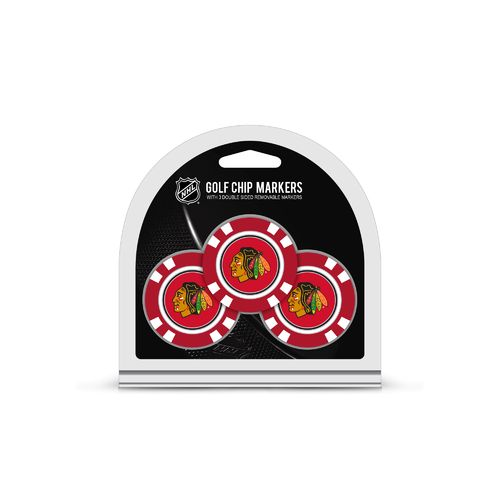 Team Golf Chicago Blackhawks Poker Chip and Golf Ball Marker Set - view number 1