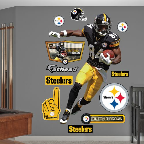 Fathead Pittsburgh Steelers Antonio Brown Home Real Big Wall Decal