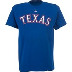 Majestic Men's Texas Rangers Official Wordmark T-shirt