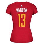 adidas™ Women's Houston Rockets James Harden #13 Game Time T-shirt