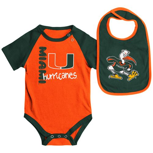 Colosseum Athletics Infants' University of Miami Rookie Onesie and Bib Set