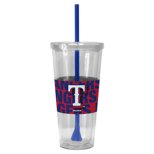 Boelter Brands Texas Rangers Bold Neo Sleeve 22 oz. Straw Tumblers 2-Pack