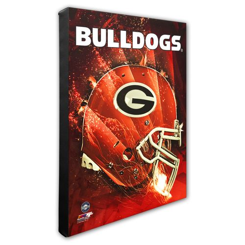 Photo File University of Georgia Helmet Stretched Canvas Photo