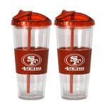 Boelter Brands San Francisco 49ers 22 oz. No-Spill Straw Tumblers 2-Pack - view number 1