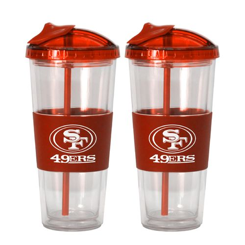 Boelter Brands San Francisco 49ers 22 oz. No-Spill Straw Tumblers 2-Pack
