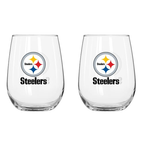 Boelter Brands Pittsburgh Steelers 16 oz. Curved Beverage Glasses 2-Pack