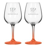 Boelter Brands Cincinnati Bengals 12 oz. Wine Glasses 2-Pack