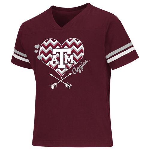 Colosseum Athletics Girls' Texas A&M University Football Fan T-shirt