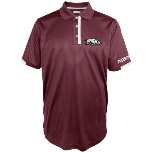 Majestic Men's University of Arkansas Section 101 First Down Polo Shirt