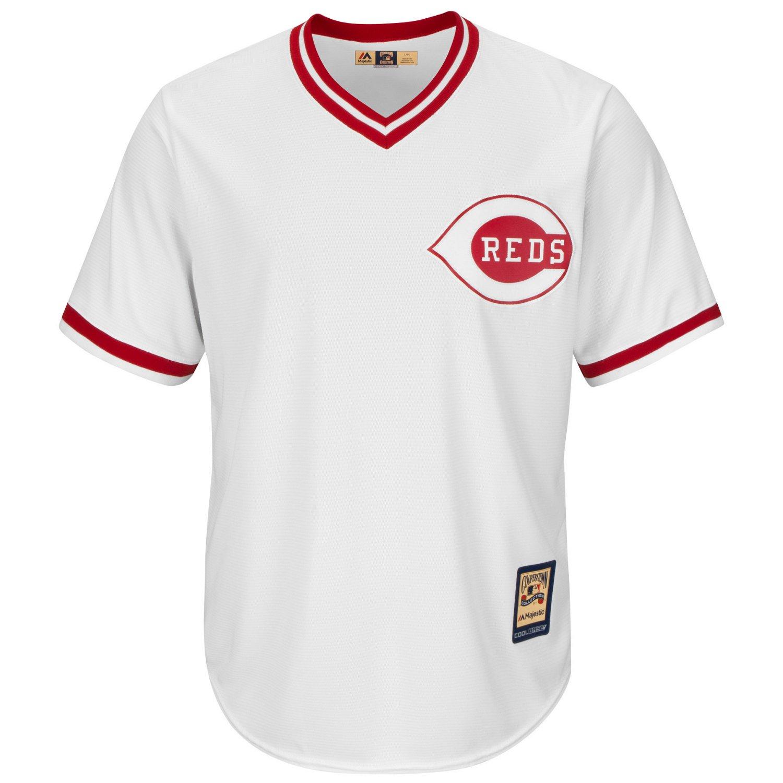 Majestic Men's Cincinnati Reds Ken Griffey Sr. #30 Cooperstown Cool Base 1978 Replica Jersey - view number 2
