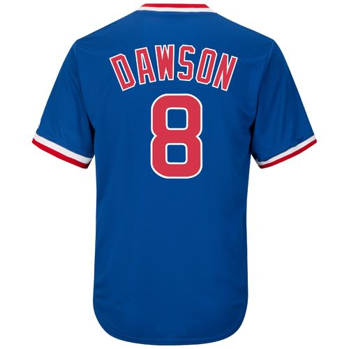 Majestic Men's Chicago Cubs Andre Dawson #8 Cooperstown Cool Base 1968-69 Replica Jersey