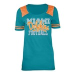 5th & Ocean Clothing Juniors' Miami Dolphins Script Fan T-shirt