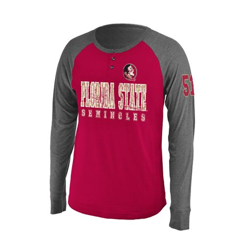 Colosseum Athletics Men's Florida State University Spotter Long Sleeve Henley Shirt