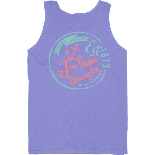 Blue 84 Men's Texas Christian University Overdyed Neon Tank Top