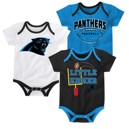 NFL Infants' Carolina Panthers 3 Points 3-Piece Bodysuit Set