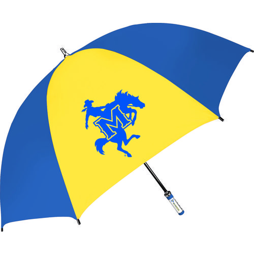 Storm Duds McNeese State University Fiberglass Shaft Golf Umbrella with Color-Coordinated ID Handle