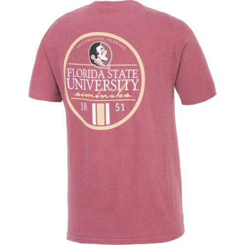 Image One Men's Florida State University Simple Circle Lines T-shirt