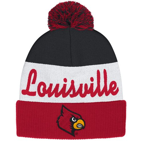 adidas™ Men's University of Louisville Cuffed Knit Pom Beanie