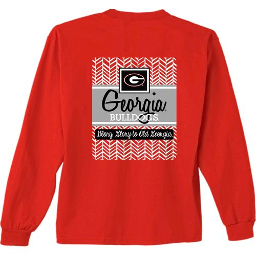 New World Graphics Women's University of Georgia Herringbone Long Sleeve T-shirt