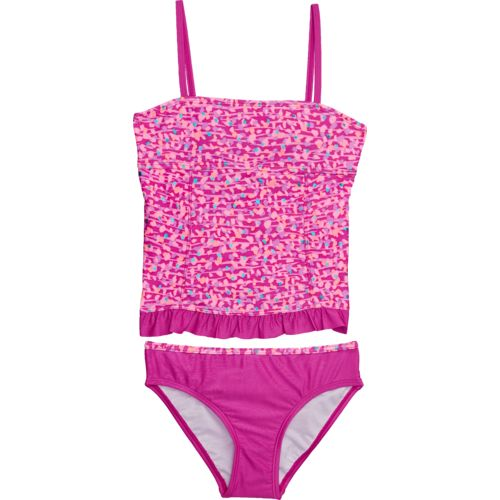 O'Rageous Kids Girls' Tiger Dot 2-Piece Tankini Swimsuit