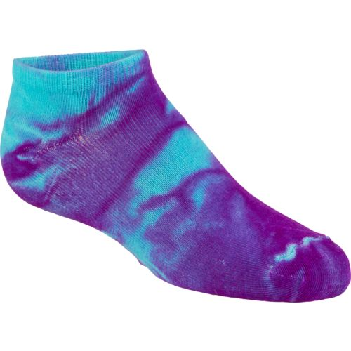 BCG Girls' True Bright Tie-Dye No-Show Socks 6 Pairs