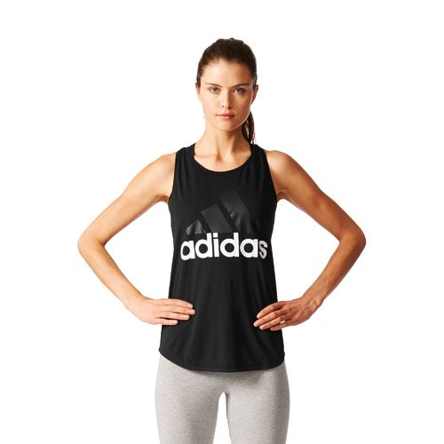 adidas Women's Essentials Linear Logo Loose Tank Top - view number 4