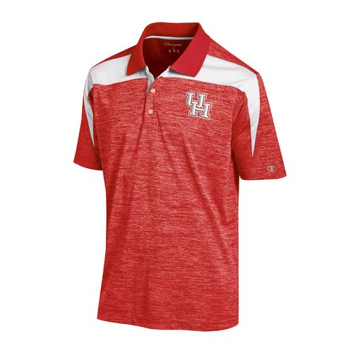 Champion™ Men's University of Houston Synthetic Colorblock Polo Shirt