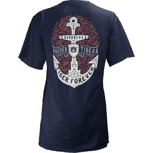 Three Squared Juniors' Auburn University Anchor Flourish V-neck T-shirt