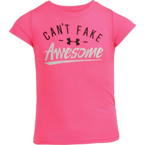 Under Armour Girls' Can't Fake Awesome T-shirt