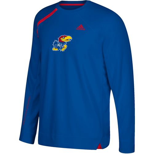 adidas Men's University of Kansas Shooting Long Sleeve Basketball T-shirt