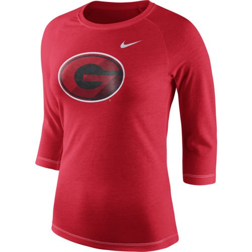 Nike Women's University of Georgia Champ Drive Raglan T-shirt