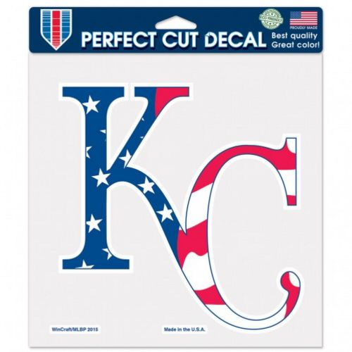 WinCraft Kansas City Royals Patriotic 8 in x 8 in Perfect Cut Decal