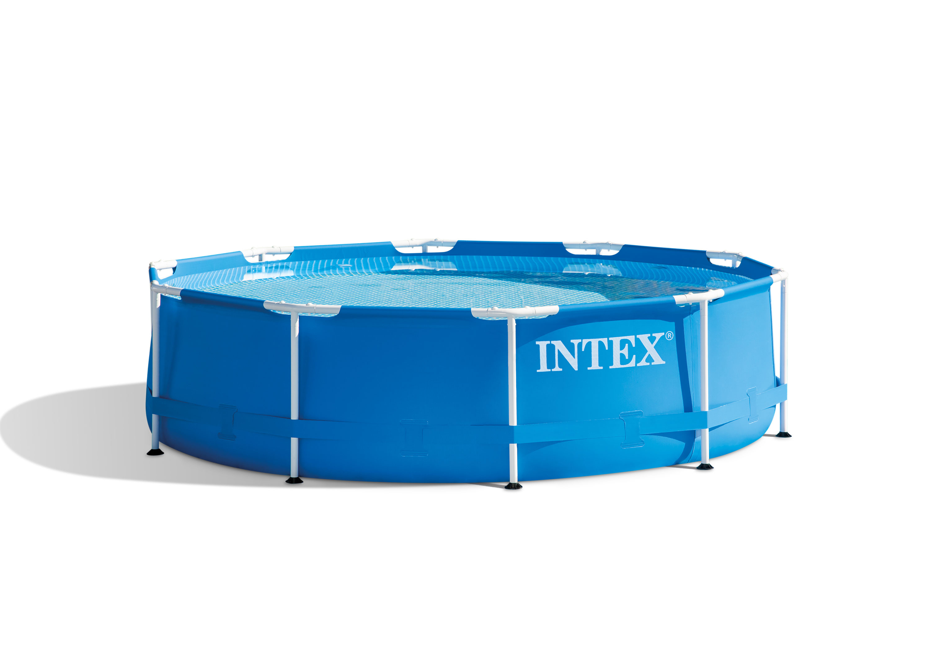 INTEX 10 ft x 30 in Metal Frame Round Pool Set