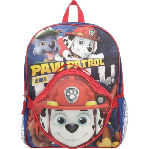 PAW Patrol Boys' On a Roll! Marshall Backpack with Die-Cut Lunch Kit