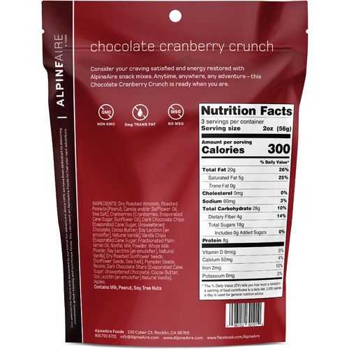Katadyn Alpine Aire Foods Chocolate Cranberry Crunch 6 oz Snack Mix - view number 2