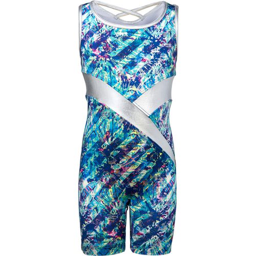 Capezio Girls' Future Star Splash Biketard with Racerback Strapping
