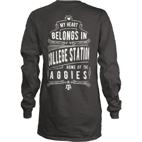 Three Squared Juniors' Texas A&M University Tower Long Sleeve T-shirt