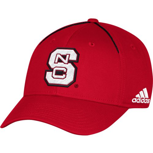 adidas Men's North Carolina State University Coach Structured Flex Cap