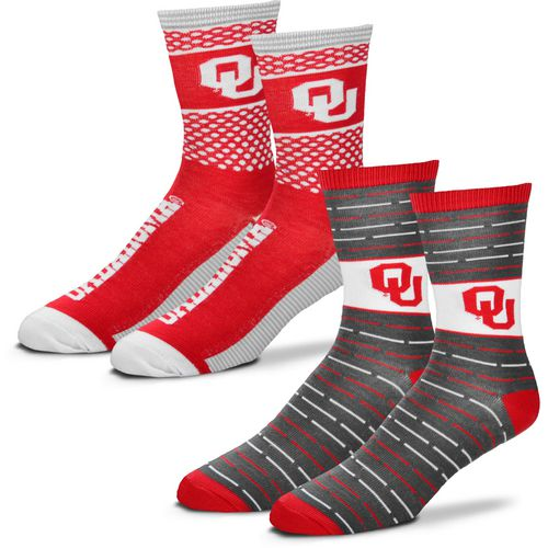 For Bare Feet Men's University of Oklahoma Father's Day Socks