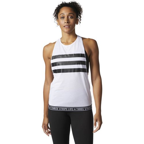 adidas Women's Three Stripe Life Tape Performer Tank Top - view number 1