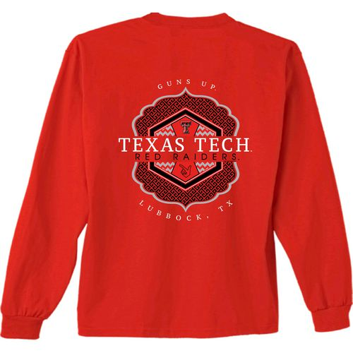 New World Graphics Women's Texas Tech University Faux Pocket Long Sleeve T-shirt