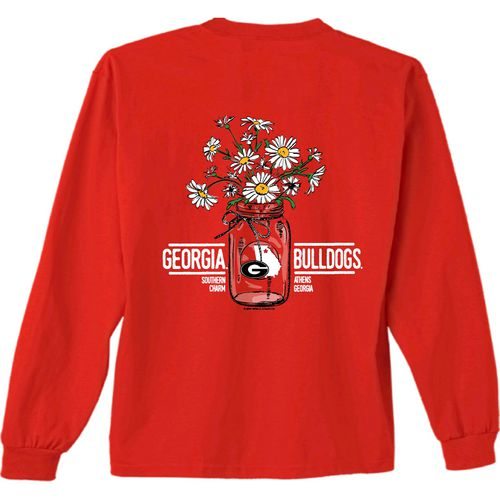 New World Graphics Women's University of Georgia Bouquet Long Sleeve T-shirt