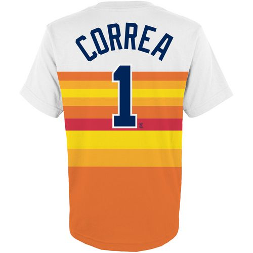 Majestic Boys' Houston Astros Carlos Correa Cooperstown Jersey T-shirt