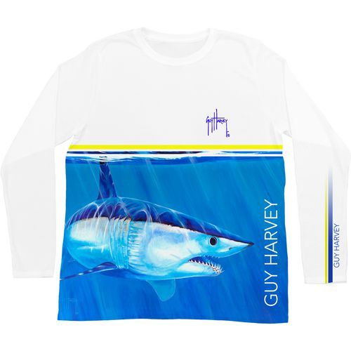 Guy Harvey Men's Mako Stripe Pro UVX Long Sleeve T-shirt